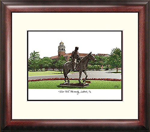 Texas Tech University Alumni Exquisitely Framed Imprinted Home Office (Tech University Framed Lithograph)
