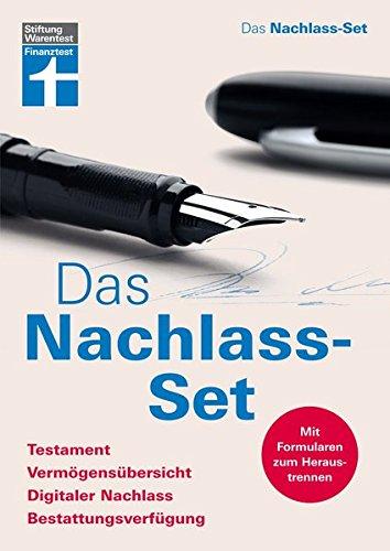 Das Nachlass-Set: Testament, Vermögensübersicht, Digitaler Nachlass, Bestattungsverfügung