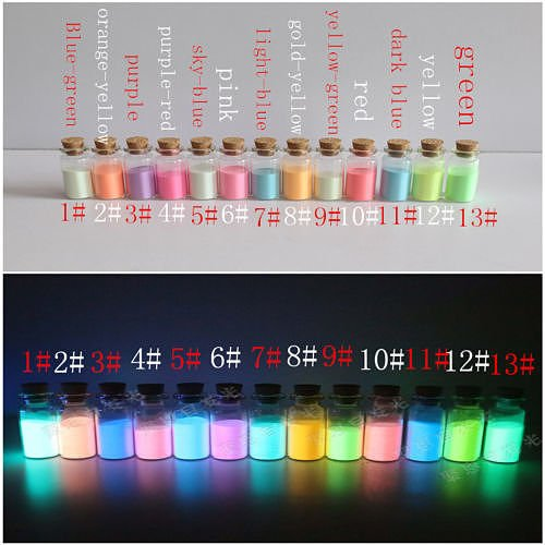 [Hot 10G In the dark Glow powder DIY Paint Luminous Pigment Graffiti Makeup Party ,Color 4# purple -red] (4 Star Dragonball Costume Color)