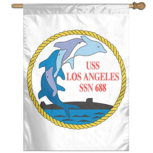 Navy USS Los Angeles SSN-688 Garden Banner Flags Springtime 27