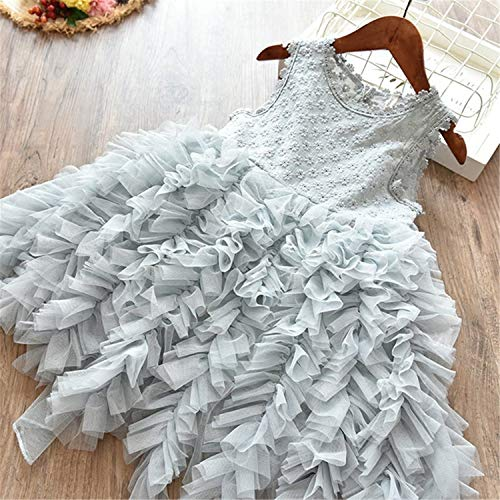 Voitery Clothing Set Formal Clothes Kids Fluffy Cake