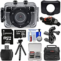 Vivitar DVR781HD HD Waterproof Action Video Camera Camcorder (Black) with 32GB Card + Helmet & Bike Mounts + Case + Tripod Kit