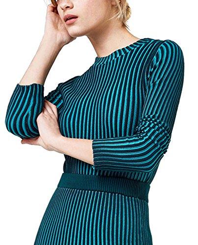 Uterque (Zara) Donna Pullover a costine bicolore 1028/450