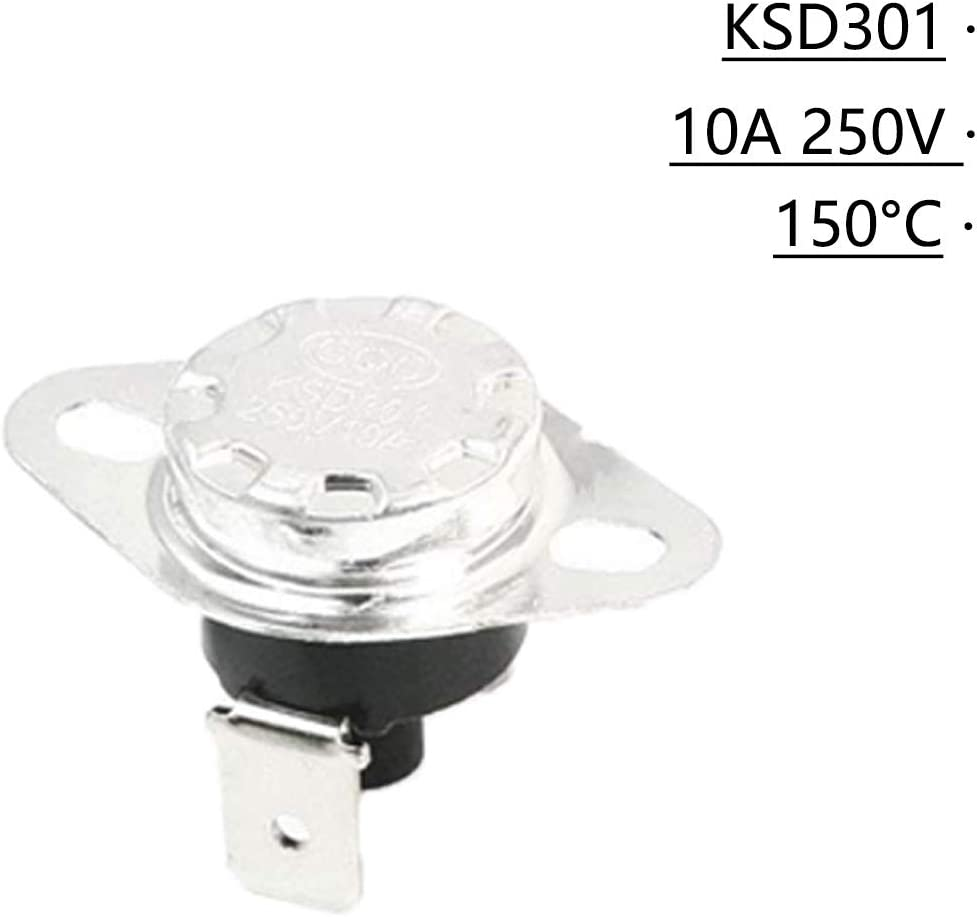 XMHF KSD301 Manual Reset Thermostat For Household Electric Appliances 10Pcs