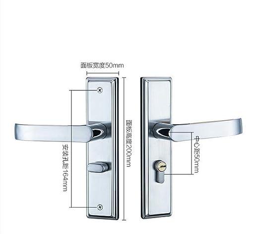 GZF Manillas para puertas Cerradura de puerta de acero ...