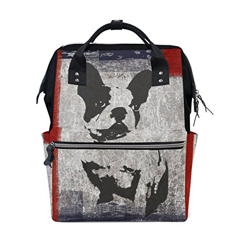 MaMacool Mummy bag Diaper Tote Bags Larger Capacity Baby Nappy Bag Fashion Boston Terrier Dog Muti-Function Travel Backpack