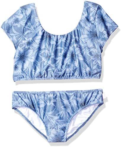 Seafolly Big Girls' Tropical Vacation Tie Back Tankini