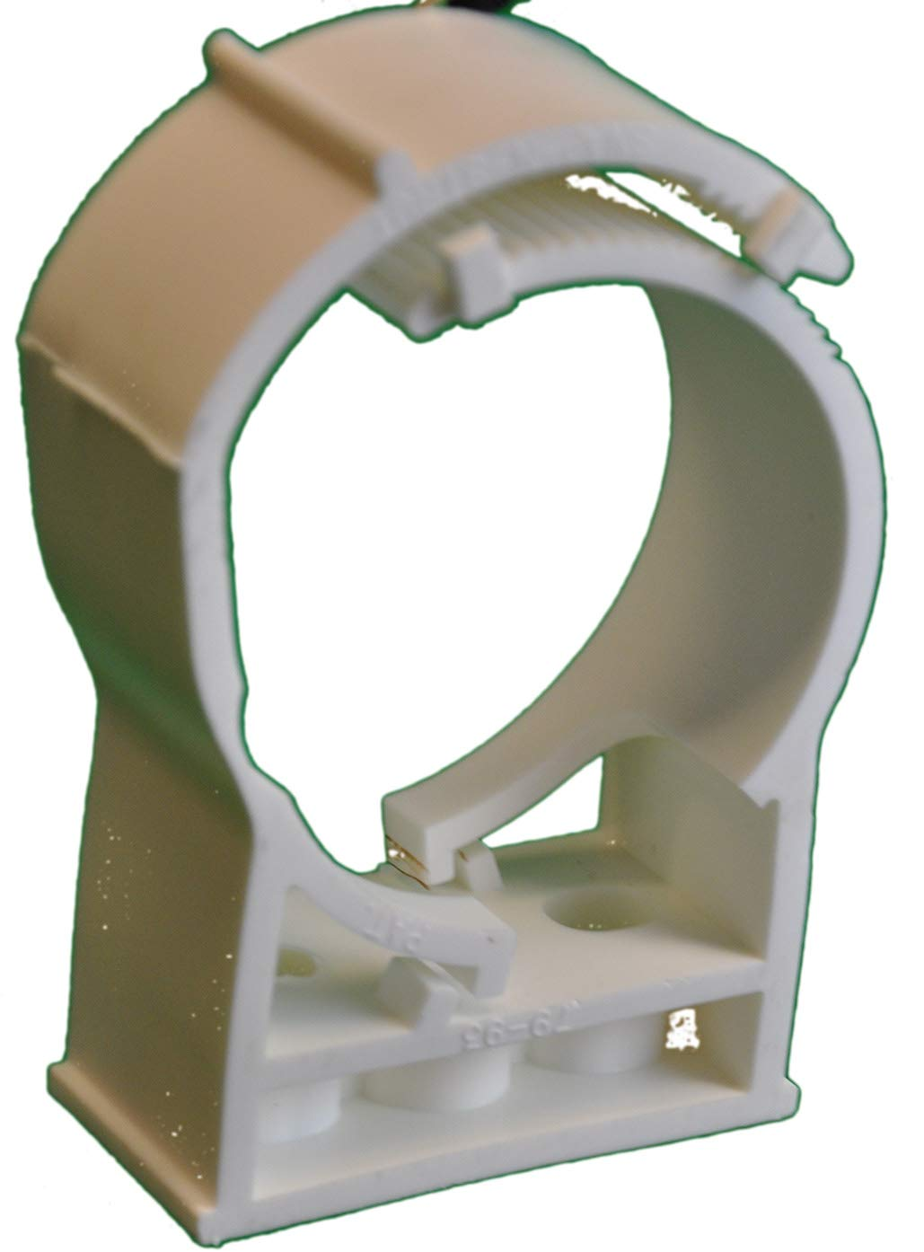 Snap N Strut Qty 12 White PP Pipe Hanger For 3 Inch EMT Conduit And Copper, And Sched 40 Pipe by Snap N Strut