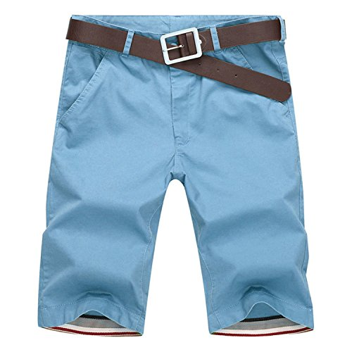 asculina Trousers Knee Length Short SkyBlue 29 (Lion Linen Yarn)