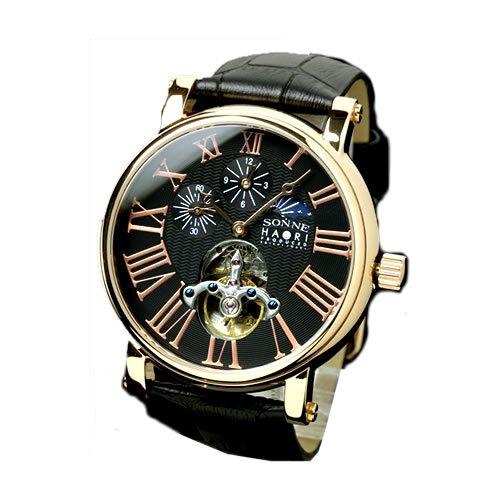 reputable site fbc53 c6d4b Amazon | [SONNE HAORI]腕時計 俳優 岩城滉一 限定モデル 機械式 ...