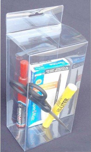 50 PCS 4-3/8 x 3-1/8 x 8-7/8 Plastic Clear PVC Box W/ Hang Hole Retail Display Boxes
