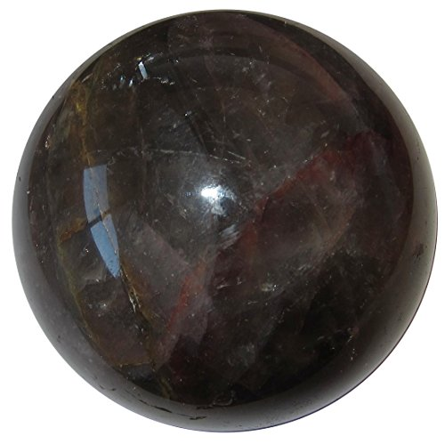 Amethyst Ball 73 Deep Smoky Purple Red Gold World of Energy Mineral Sphere Stone 2.7'' by SatinCrystals