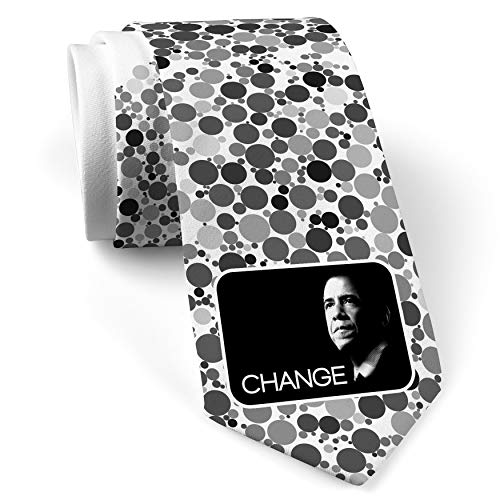 Neck Tie with Barack Obama President White with Color Print