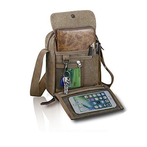 Over Body Bag (Harwish Men's Multifunctional Canvas Messenger Handbag Outdoor Sports Over Shoulder Crossbody Side Bag (Coffee))