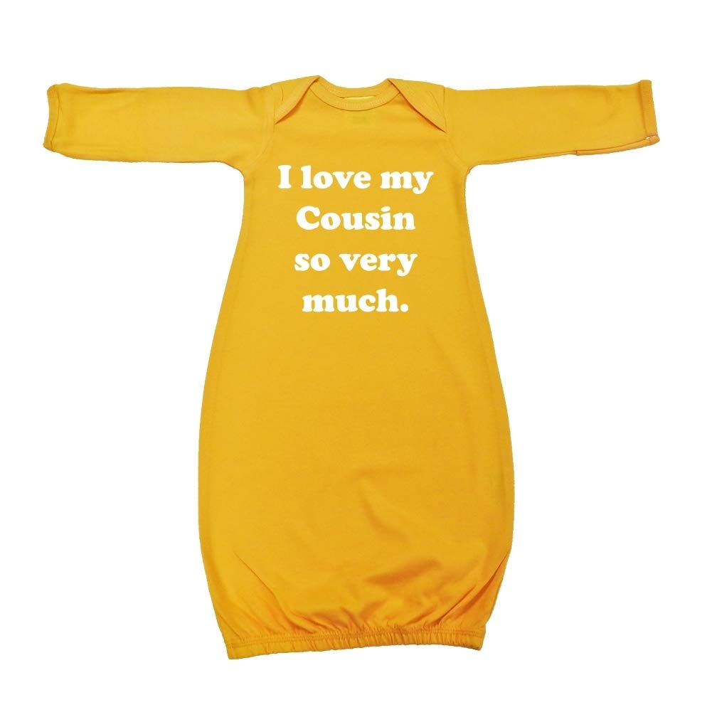 I Love My Cousin So Very Much Baby Cotton Sleeper Gown