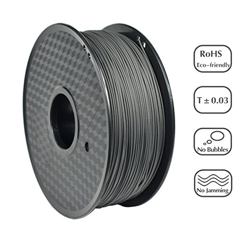 PRILINE carbon fiber PLA-1KG 1.75 3D Printer Filament, Dimensional Accuracy +/- 0.03 mm, 1kg Spool, 1.75 mm,Black (Carbon Fiber Spool)