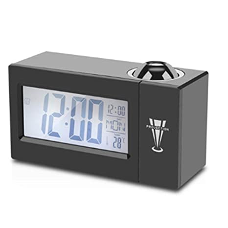 LKJH Despertador digital Pantalla LCD Proyección Digital LED ...