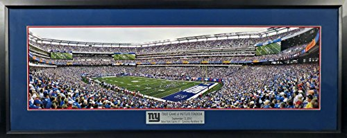 new-york-giants-first-game-metlife-stadium-panoramic-deluxe-framed