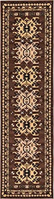 "Unique Loom Heriz Collection Black 10 x 13 Area Rug (9' 10"" x 13')"