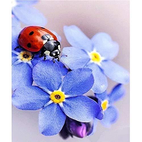 LICSE 5D DIY Diamond Painting Full Square Drill Ladybug Flowers 16X20 inch