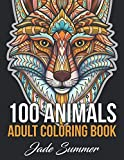 Books : 100 Animals: An Adult Coloring Book with Lions, Elephants, Owls, Horses, Dogs, Cats, and Many More!