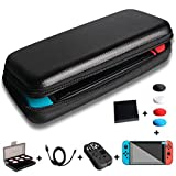 Nintendo Switch Case,Feihe Switch Carrying Case Starter Kit 24 Game Cartridges Protective Carrying Case and Screen,Charging Cable, Silicone Joy-Con Controller for Nintendo Switch Accessories