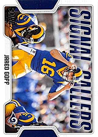 99fd80fdc5e 2018 Score Signal Callers #18 Jared Goff Los Angeles Rams Football Card
