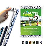 Alien Pros Golf Grip Wrapping Tapes (12-Pack) - Innovative Golf Club Grip Solution - Enjoy a Fresh New Grip Feel in Less Than 1 Minute (12-Pack, White Tetris)