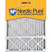 Nordic Pure 20x25x5 (4-3/8 Actual Depth) Lennox X6673 Replacement MERV 10 Pleated AC Furnace Air Filter, Box of 4