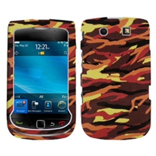 (MYBAT BB9800HPCIM678NP Slim and Stylish Protective Case for Blackberry Torch 9800 - 1 Pack - Retail Packaging - Camo/Yellow)