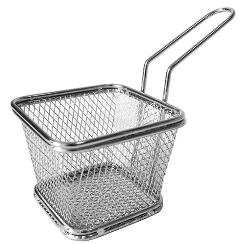 Amazon.com: Supreminox Square Chips Basket, Stainless-Steel, Multi-Colour, 10 x 9 x 6 cm: Kitchen & Dining