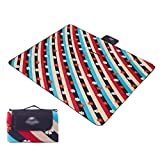 Picnic Blanket Waterproof Backing, Outdoor Picnic Mats Moisture-proof Thickening Plus Velvet Portable Picnic