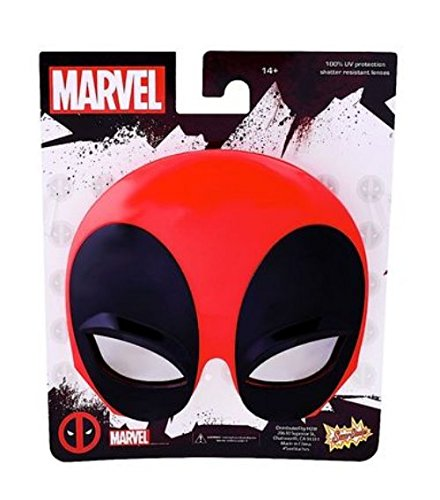 [Party Costumes - Sun-Staches - Deadpool Mask Sunglasses Toys Games SG2477] (Sit And Be Fit Costume)