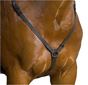 Wintec Synthetic Pro Quality Breastplate, Black, Full Horse