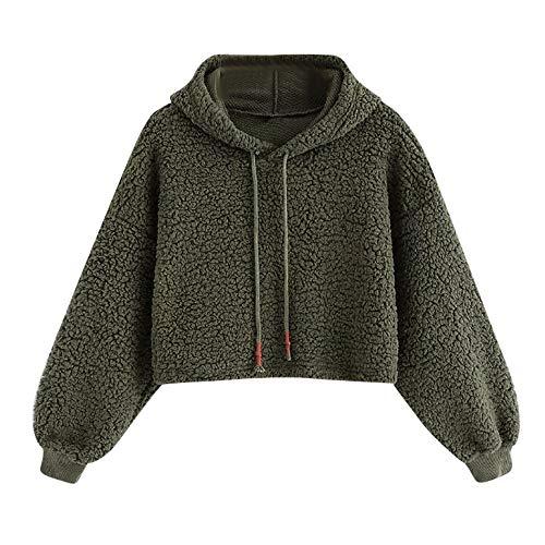Photno Women's Pullover Hoodies Winter Warm Fleece Tops Hooded Sweatshirts Sweaters Shirt ()