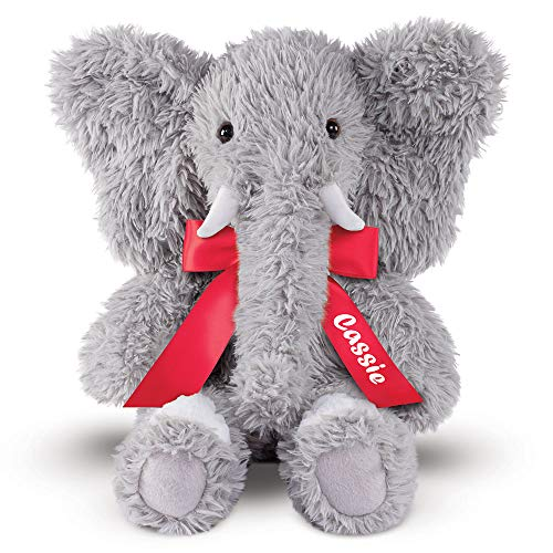 Vermont Teddy Bear - Custom Oh So Soft Elephant Toys and Games, Grey, 18 Inches -