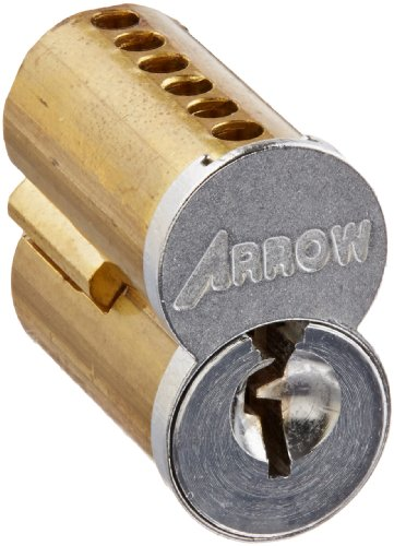 Arrow Lock 100CRP Satin Chrome Brass 6-Pin Pointe Interchangeable Uncombinated Core, 1D Keyway (Pack of 1) (Arrow Cylinder)