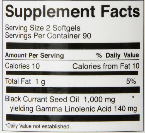 FoodScience of Vermont Natural GLA, Black Currant Seed Dietary Supplement, 180 Soft Gels by FoodScience of Vermont (Image #1)
