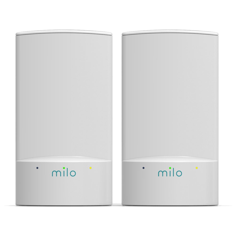milo 2.0 Two-Pack WiFi Range Extenders - Whole Home Distributed WiFi, BaseLink Network Technology, Hybrid Mesh Technology, Increase WiFi Coverage Area up to 2,500 Sq. Ft. by MILO