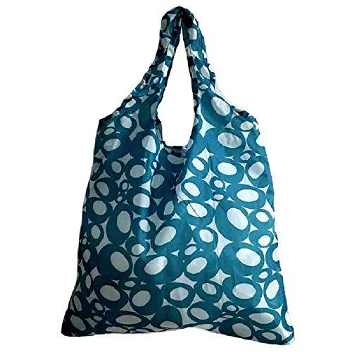 Tote Shoulder Bag Large Bag Shoulder Blue Tote Handbag Tote Blue Eco Nylon Fashion ZHRUI Foldable Friendly Bags Bag Z1w57AqW