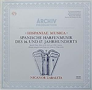 Hispaniae Musica - Spanische Harfenmusik des 16. und 17. Jahrhunderts [Vinyl LP] [Schallplatte]