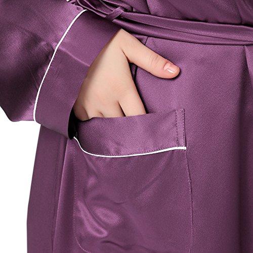 Lilysilk Bata de Seda Contra Recorte y Longitud Completa Violeta