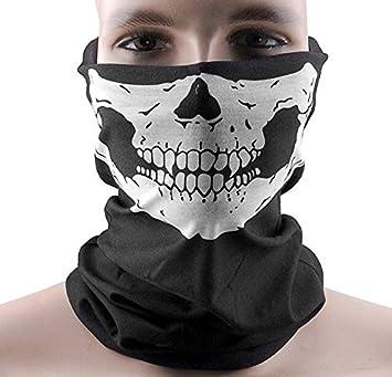 FRE cráneo esquí, Snowboard, Moto o bicicleta deportes sin soldadura Bandana cara Máscara-Pañuelo: Amazon.es: Deportes y aire libre