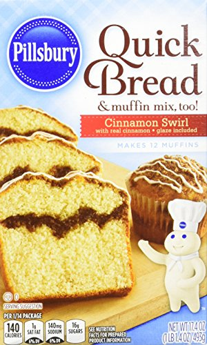 Pillsbury Cinnamon Swirl Quick Bread, 17.4-Ounce Boxes (Pack of 12)