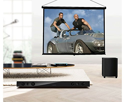 CHEERLUX Ultra Portable ProjectorTabletop Projection Screen 50'' 4:3 For DLP Projector , Mini Projector,Home and Office Business Meeting With Carrying Bag by Cheerlux (Image #4)
