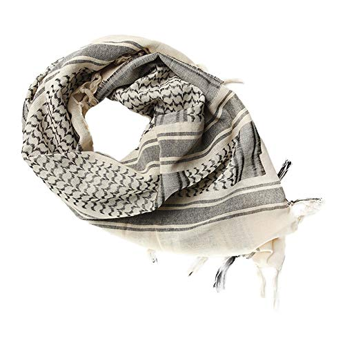 Wingbind 100% Cotton Shemagh Tactical Desert Scarf Wrap, Military Thickened Keffiyeh Arab Tessel Scarf Wrap for Women and Men by Wingbind (Image #4)