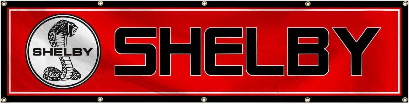 Daoops Shelby Cobra Flag Motorsport Car Racing 2x8Ft Banner