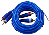 12ft Twisted Pair Extreme Performance RCA Cable for Car & Home Audio