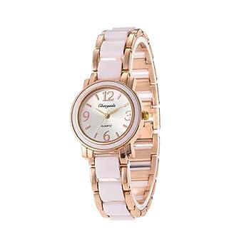 HWCOO Reloj de pulsera de mujer reloj de imitación de cerámica de ...
