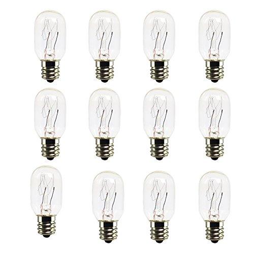 12 Pack-Salt Lamp Bulbs,Incandescent Bulbs,Replacement Light Bulbs for Himalayan Salt Lamps,Salt Night Lights 25Watt E12 Socket